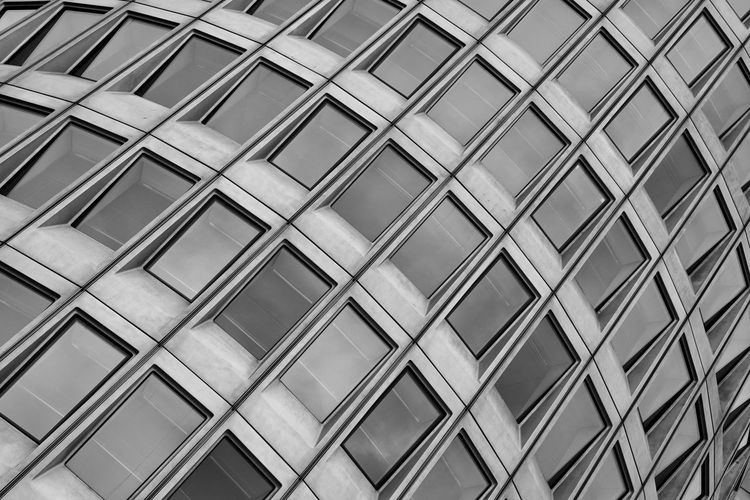 Built Structure Architecture Building Exterior Pattern Building Office Building Exterior Window Repetition Modern Blackandwhite Façade Abstract