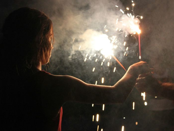 Sparklers 4th Of July Silhouette The Great Outdoors - 2015 EyeEm Awards Haze Smoke Creative Light And Shadow What I Value Capture The Moment Photography In Motion Things I Like