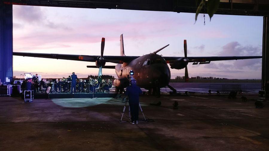 Sunset Sky Transall Transall C 160 Musique De L'air Armee De L Air French Air Force Birthday 50yearsold Cloud - Sky Love This Job Plane Avion 50ans