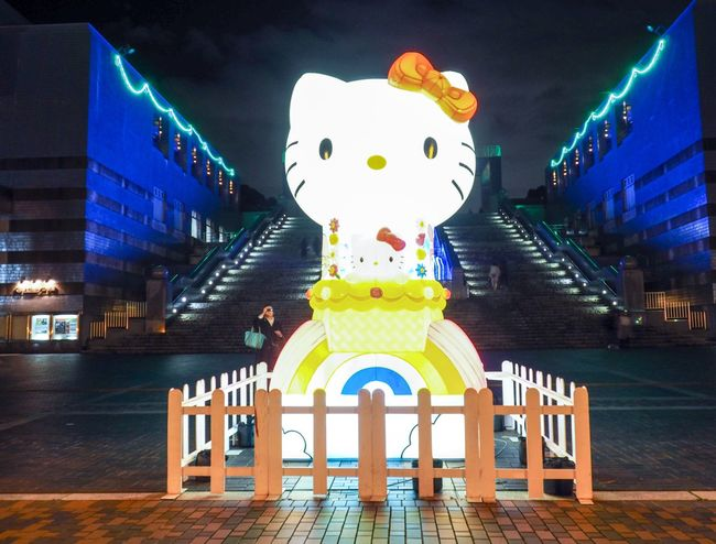 Hello Kitty Tokyo,Japan Tokyo Hello Kitty ❤ Hello Kitty <3 Hello Kitty Night Illuminated Architecture Built Structure Building Exterior No People Outdoors