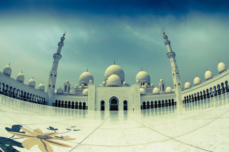 Low angle view of mosque