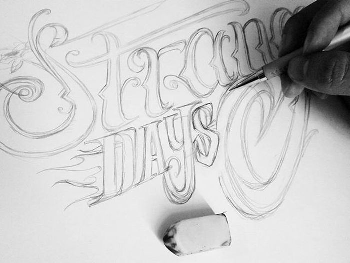Sketch sore-sore Anuu Pencil Bacaan Lettering Handlettering Handstyle Font Design Pencils Sketch Typography Typo