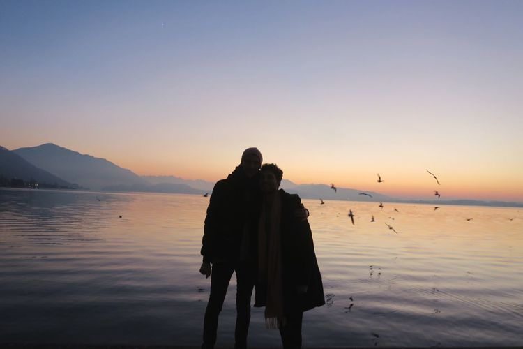 oh home. First Eyeem Photo Sunset Switzerland First Eyeem Photo Real People Lake View Gay Gaycouple