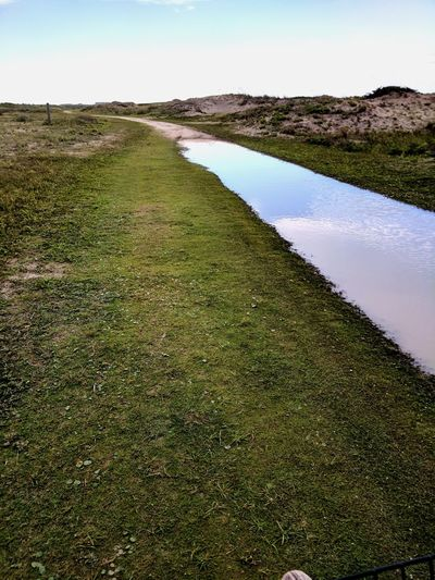 Water Sky No People Day Outdoors Green Color Beach Nature Sand Kiawah Island Reflection Grass Golf Course Calm South Carolina Beach EyeEm Selects