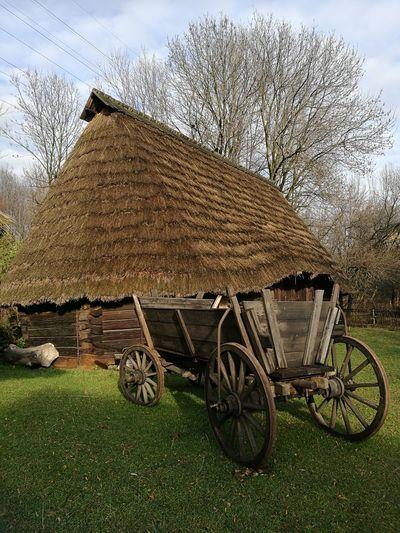 Skansen Chorzow No People Old Cottage Cart
