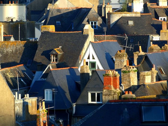 Sunrise, Quimper, France. Architecture Building Exterior Built Structure City Travel Destinations Cityscape No People Roof Outdoors Illuminated Urban Skyline France Quimper Rooftop Rooftops Rooftop View