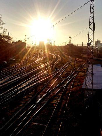 Dusk City Sunset Outdoors Transportation Sun No People Dusk Sunlight Transportation Sky City Sunset Outdoors Sun No People The Week On EyeEm