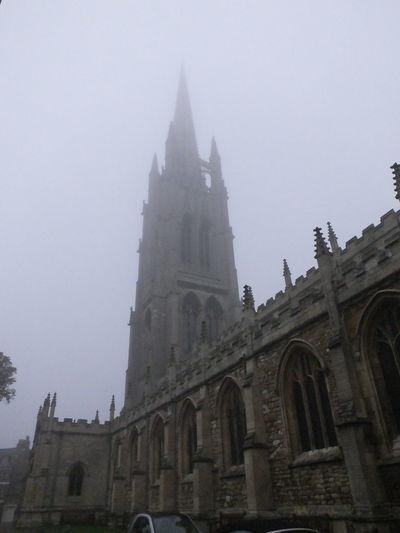 Church Churchspire Fog Foggy Day Grey Day Mist St James St James Church