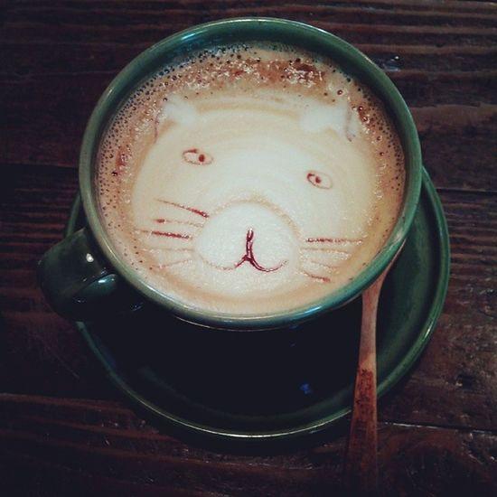 老麥咖啡,這拉花究竟是貓還是熊?傻傻分不清楚