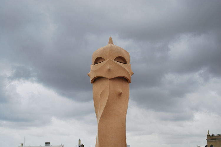 Art And Craft Barcelona Barcelona, Spain Casa Mila ( La Pedrera ) Casa Milà Gaudì Cloud - Sky Day Gaudi Human Representation Low Angle View No People Outdoors Roof Rooftop Sculpture Sky SPAIN Statue Statue