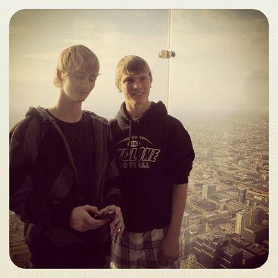 Cody & Zachery Oct. 2011 Beautiful View! I Miss U Cody...Chicago Skydeck Just Smile  Chilling Roadtrippin FamilyLove Lovemyboys Family Love