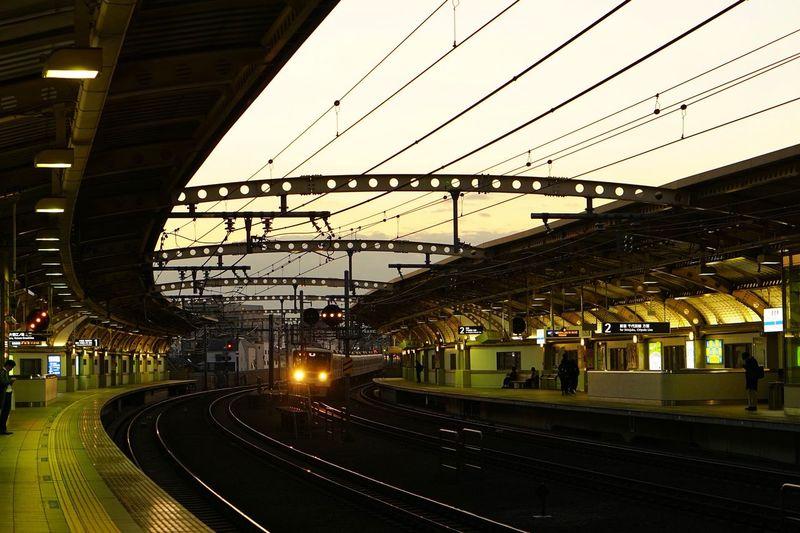Cityscape Dusk Transportation Architecture Rail Transportation Built Structure Railroad Track Track Mode Of Transportation Sunset Sky