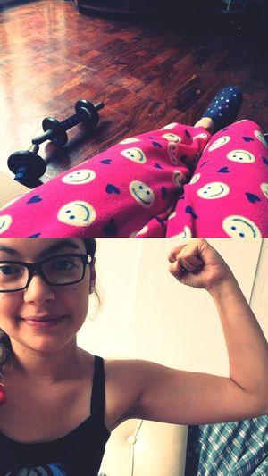 Relaxing Hi! Enjoying Life That's Me Gym Time