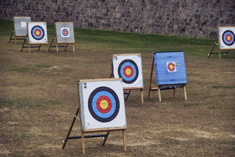 Sports targets on field
