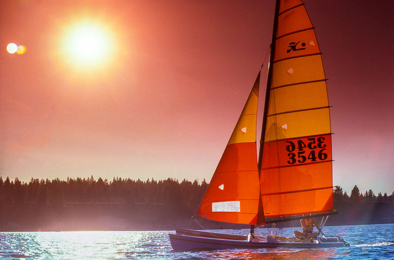 Chasing the sun... Nikon Beauty In Nature Lake Nature Nautical Vessel Orange Color Outdoors Red Sailboat Sky Sunset Tranquility Transportation Water Waterfront