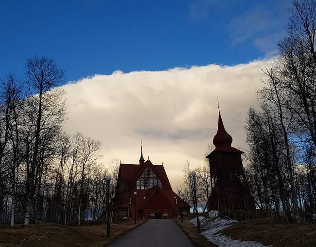 Religion Architecture Sky Travel Destinations No People Place Of Worship Spirituality Built Structure Cloud - Sky Outdoors Building Exterior Tree Day Sc:dynamike73 Kiruna Folowmesnapchat Mikaeljohansson73