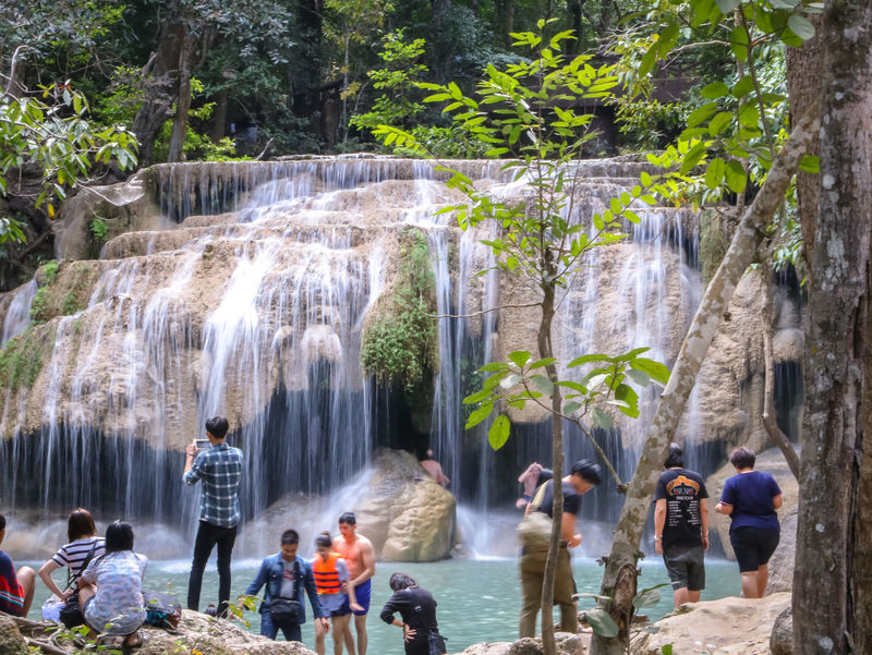 Adult Beauty In Nature Blurred Motion Day Flowing Long Exposure Medium Group Of People Men Motion Nature Outdoors People Real People Rock - Object Scenics Standing Tourism Tourist Travel Travel Destinations Tree Vacations Water Waterfall