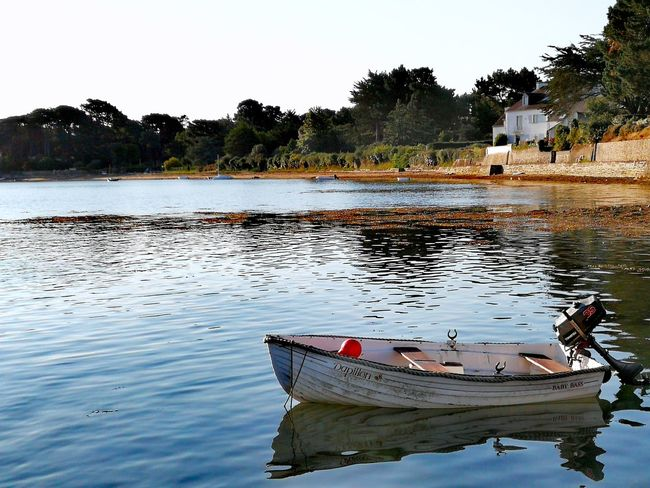 Tranquility Ocean Skyblue Morbihan Huaweip10plus No People Nature Collection Bretagne Boat Morninglight Golfe Du Morbihan Water Outdoors Breizh