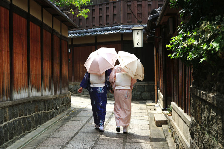 Adult Adults Only Day Girls Japanese Culture Kimono Kimono Girl Outdoors People Real People Rear View Sisters Togetherness Two People Umbrella Women Kyoto Kyoto, Japan Japanese Traditional Clothes Japanese Culuture Japanese Tradition Japanese Trademarks Japanese Style Japanese Girl JapaneseStyle Neighborhood Map Adventures In The City