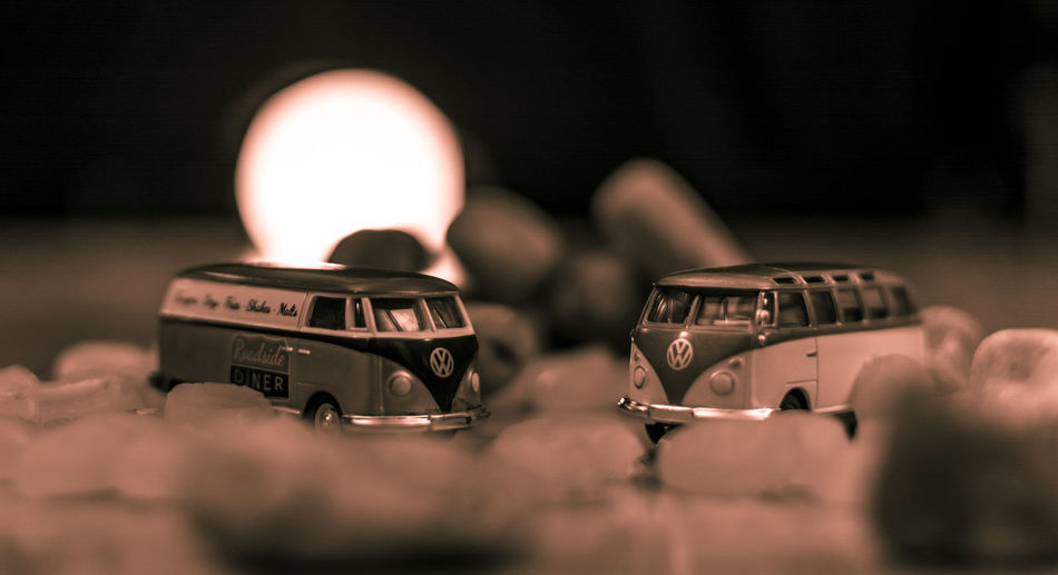 Car Cars Close-up Illuminated Indoors  No People Selective Focus Sunset VW VW Bus Vw Busses