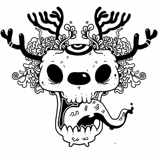 Head skull dear. Drawingtime Hinghoi People Skulls Thailand Skulls And Bones Tattoos Tattooartist  DoodleArt sketch Skeleton Sketches Sketching ☺ Painting