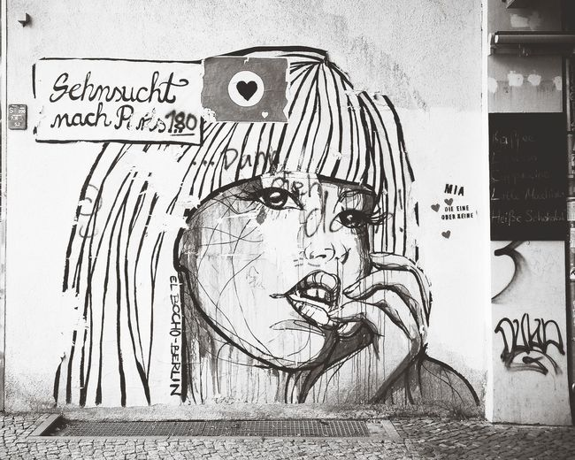 Longing Streetart Blackandwhite Black & White