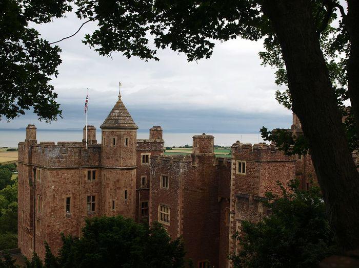 Dunster Castle Dunster Castle View Trees Leaves Coast Stone Old Building