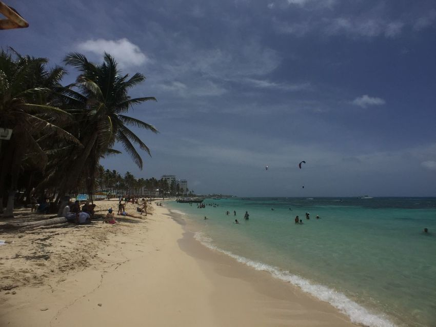 Beach Beauty In Nature Caribbean Cloud - Sky Colombia Day Holiday Horizon Over Water Island Nature Outdoors Palm Tree San Andres Island,Colombia Sand Scenics Sea Shore Sky Tranquil Scene Tranquility Travel Travel Destinations Vacations Water