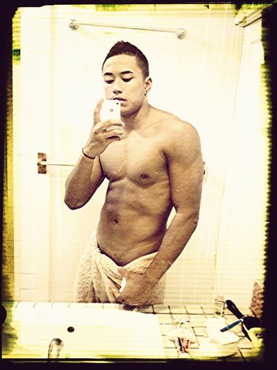Out the shower