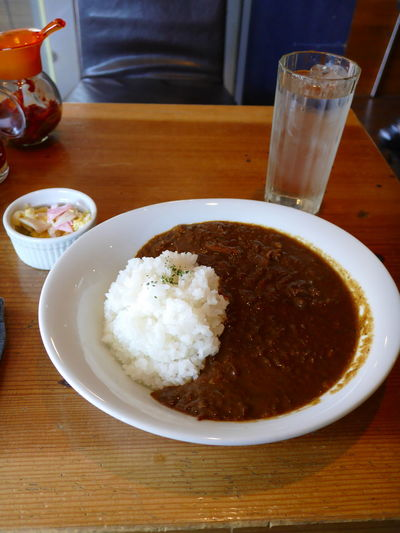 Today's Lunch HAMMER HEAD CURRY の SPICY BEEF CURRY set🍛 Curry Rice Curryrice Foodporn Yummy Foodphotography Enjoying Life The Purist (no Edit, No Filter) Snapshot Taking Photos Taking Photos EyeEm Best Shots Walking Around お写ん歩 Lumix Dmc-cm1
