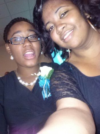 my baby sister && i at aunt vickie && uncle james wedding