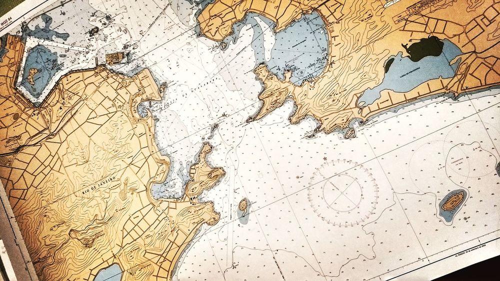 Planing the Courses Yacht Rio De Janeiro Chart Nautical Equipment Nautical Themed Nautical Navigation Tools