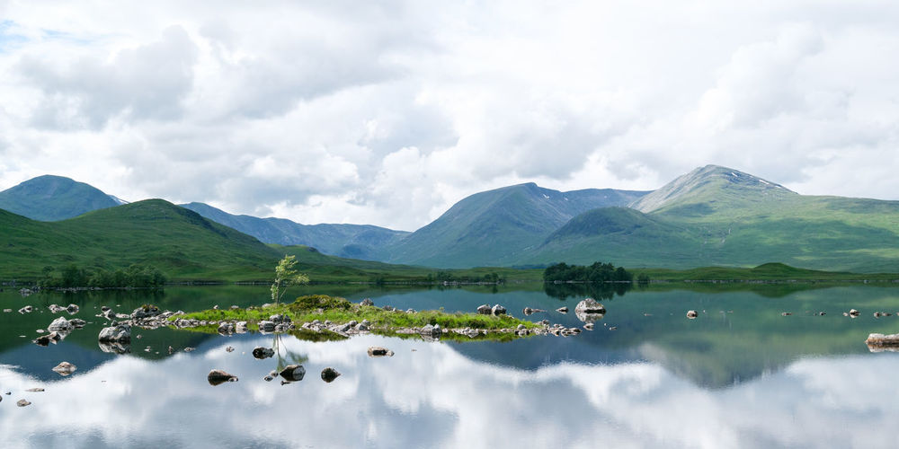 Beauty In Nature Cloud - Sky Day Glencoe Lake Mountain Mountain Range Nature No People Outdoors Reflection Scenics Scotland Sky Tranquil Scene Tranquility Water Waterfront