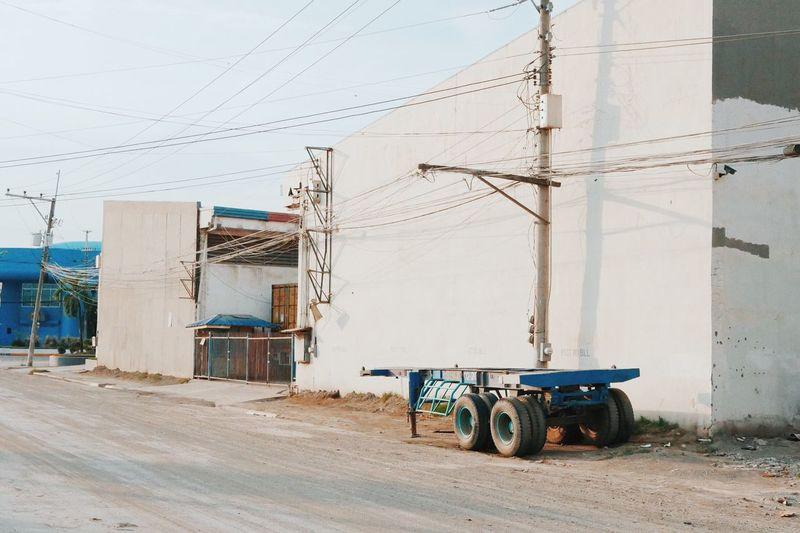 Barren Lands City Dust Empty Industrial Cebu City Philippines Truck Trailer Decay Urban