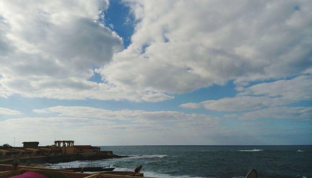 Elmontazah Alexandria Egypt Cloudy Sky Cloudy Day Cloud_collection  Clouds And Sky Cloud_collection  Sea And Sky Water Nature Cloud - Sky Sky No People Sky And Clouds Beauty In Nature Beauty Alexandra