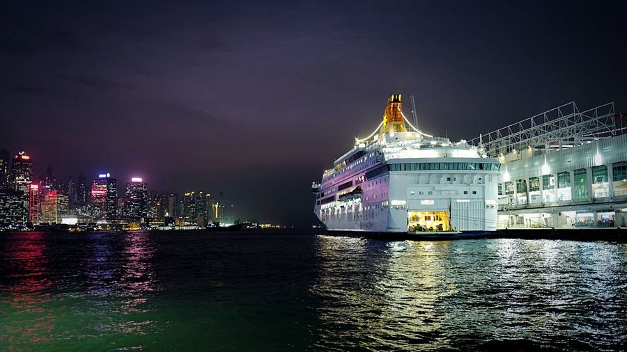 Ocean Terminal TST HongKong Discoverhongkong Leica Leicaq Nightphotography Night_harbour Capture The Moment Walking Around Night Lights Harbour