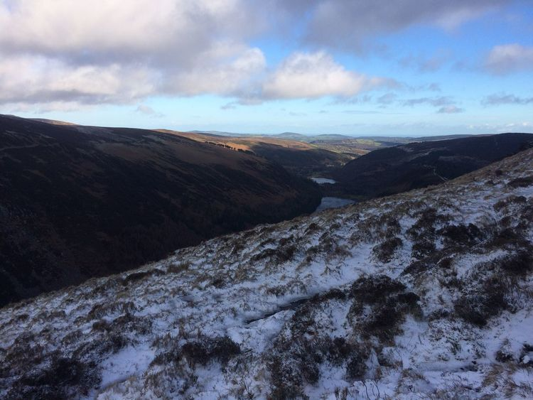 Outdoors Outforawalk Hiking Snowy Cold Landscape_Collection Landscape Lake Mountain Sun Sea And Sky