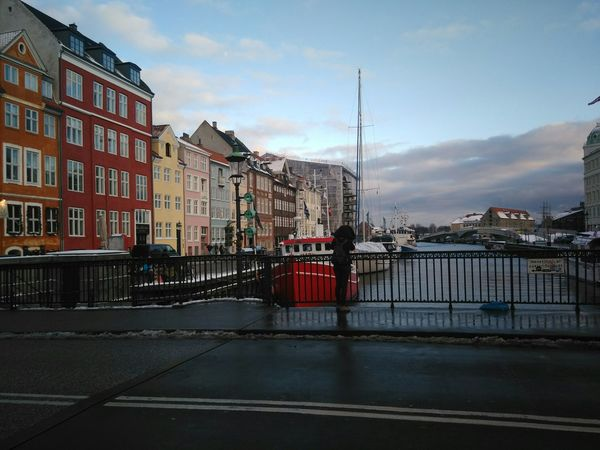 Traveling Denmark Copenhagen Nyhavn Port Colorful HousesRiverside Boats Clouds And Sky Landscapes With WhiteWall Erasmus Photo Diary Europe City