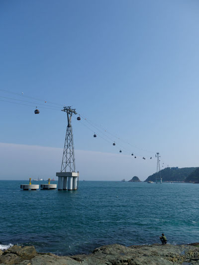 Breathtaking Busan,Korea Cable Car Calmness Healing Korea Songdo Cable Car Songdo Island Thinking Travel Beauty In Nature Blue Cable Clear Sky Hurt Mode Of Transportation Nature Ocean Sadness Sea Sky Thinking About Life Transportation Water Waterfront