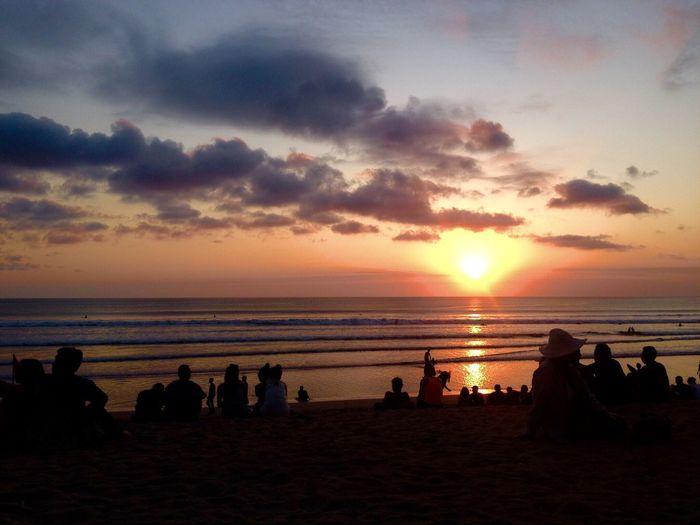 Sunset in Bali Hello World