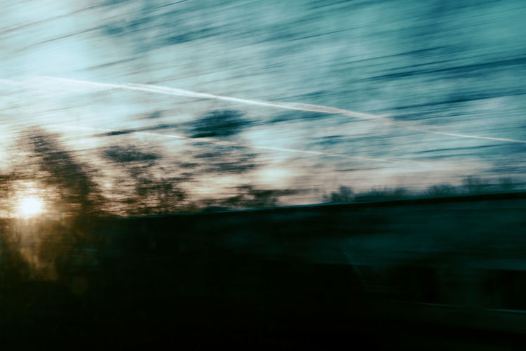 Back Home Train Traveling Speed No People Day Nature Blurred Motion Outdoors Motion Tree Reflection Winter Journey Long Exposure