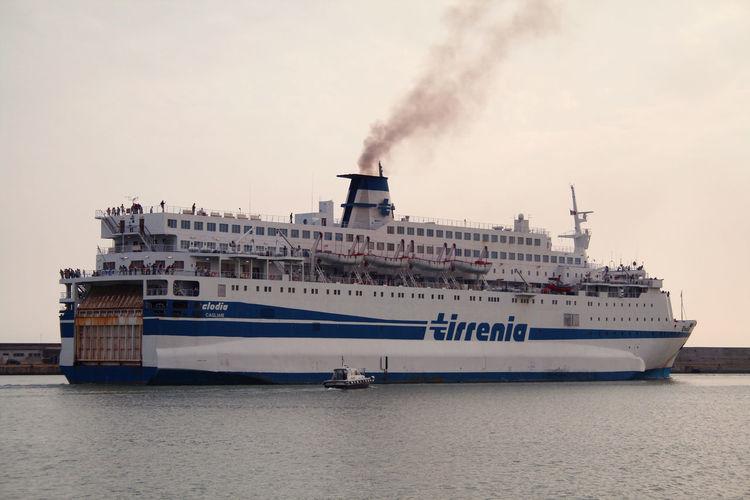 Clodia di Tirrenia Ferry Ferryboat Civitavecchia Clodia Cruise Cruise Ship Day Mode Of Transportation Nature Nautical Vessel Outdoors Passenger Craft Sea Ship Tirrenia Transportation Water