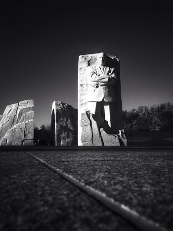 Got MLK? MLK Martin Luther King Jr MLK Memorial Statue Memorial The Human Condition Blackandwhite Black And White Vanishing Point EyeEm Best Shots - Black + White