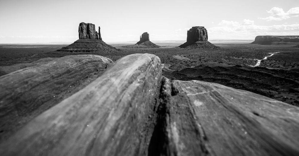 Monument Valley Panorama Blackandwhite Black And White Black & White USAtrip Roadtrip Travel Travel Destinations Utah Arizona Desert Western Leading Lines