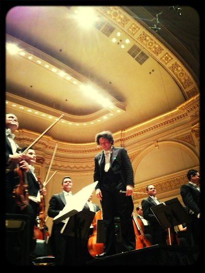 Conductor Gustavo Dudamel And The Simón Bolivar Symphony Orchestra Of Venezuela