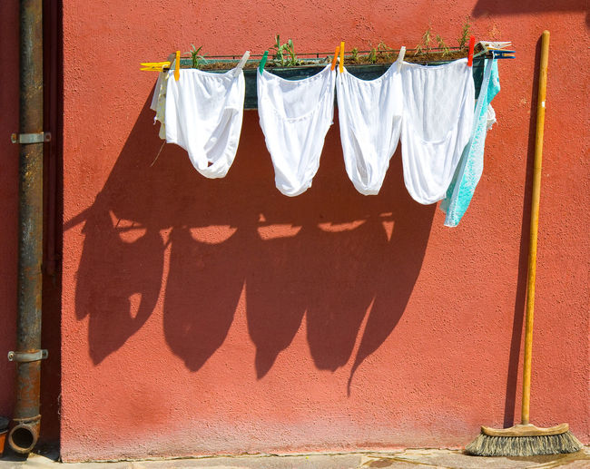 Clothesline Hanging From Wall