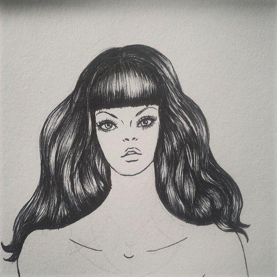 Hair Sketchbook Sketch Art