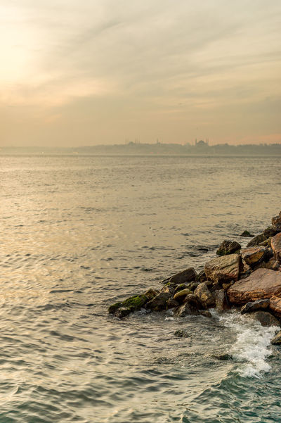 Rocks & the Old City in the Distance Istanbul Rock Rock Formation Travel Beauty In Nature Bokeh Bosphorus Focus On Foreground Horizon Over Water Istanbul Turkey Kadıköy Nature No People Old City Outdoors Scenics Sea Sea And Sky Seascape Sunset Tranquil Scene Tranquility Travel Destinations Water Waterfront