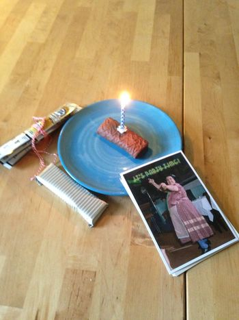 #BirthdayCake  Table High Angle View Candle Indoors  Flame Still Life No People Food And Drink Sweet Food
