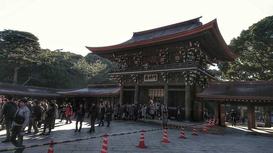 あけましておめでとうございます🎍🌅🎍 今年も宜しくお願い致します😺 初詣 明治神宮 Happy New Year 2018 Japanese Culture New Year Around The World Japan People And Places Architecture Wooden Architecture Hello World Taking Photos From My Point Of View EyeEm 2018